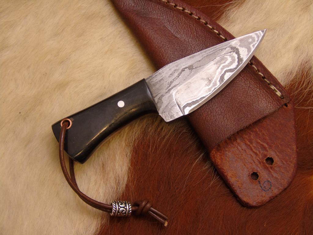 Damassé Mini couteau, très beau Main Forgé couteau couteau couteau 4248 251197