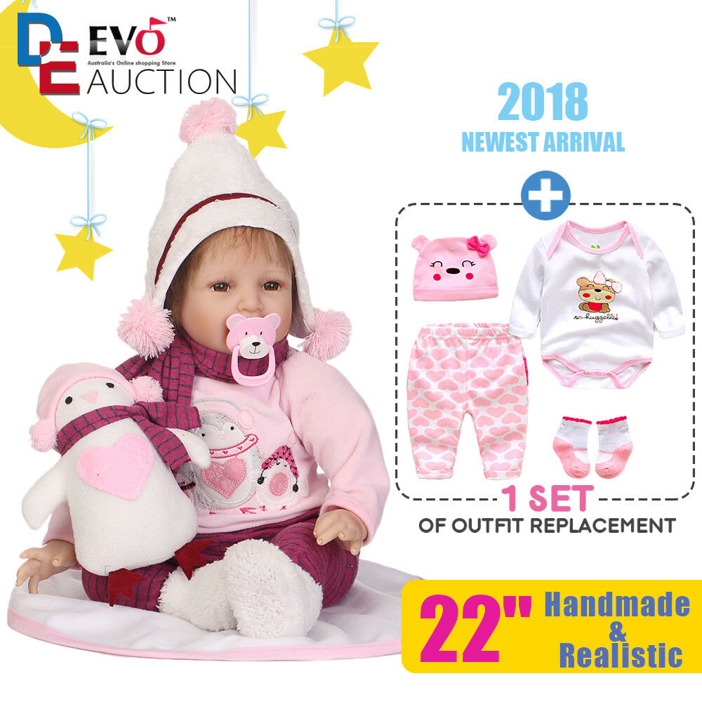 Reborn reallife Baby Puppe Puppe Puppe Rebornpuppen Mädchen Handgemacht Vinyl mit Kleidung f57a12