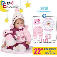 Reborn reallife Baby Puppe Rebornpuppen Mädchen Handgemacht Vinyl mit Kleidung