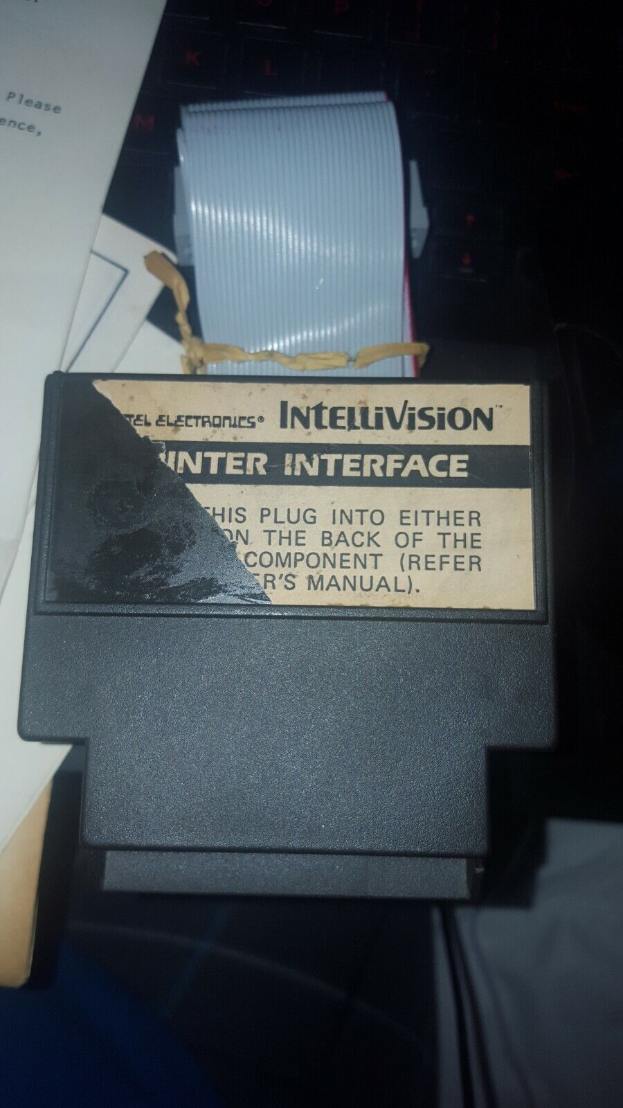 Image 1 - Intellivision printer interface and mic for keyboard component actually rare