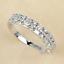 thumbnail 1 - 925 Silver Women Gemstone Birthstone Diamond Wedding Engagement Ring Wholesale