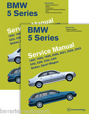 Bentley Repair Manual - Hardcover-  BMW 5 series 97 thru 02 - E39 chassis