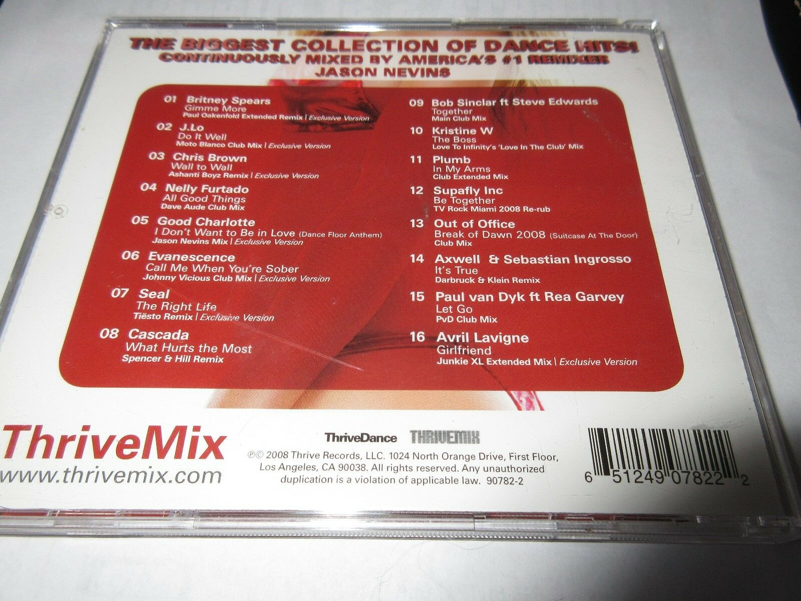 Thrive Mix Presents Dance Anthems 2 , CD