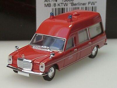 Brekina 13809 Mercedes Benz MB //8 KTW Feuerwehr Lübeck von Starmada 1:87 Neu