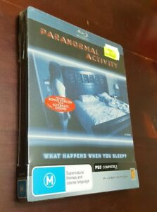 New-amp-Sealed-Paranormal-Activity-STEELBOOK-BLU-RAY-Reg-B-AUS-Rare-OOP