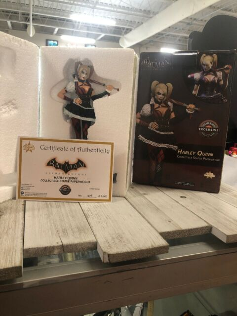 """MIB! 2016 SDCC EXCLUSIVE ARKHAM KNIGHTS HARLEY QUINN PAPERWEIGHT 8/"""" STATUE"""