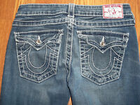 True Religion Joey Twisted Flare Womens Jeans Size 27 Great Jeans!