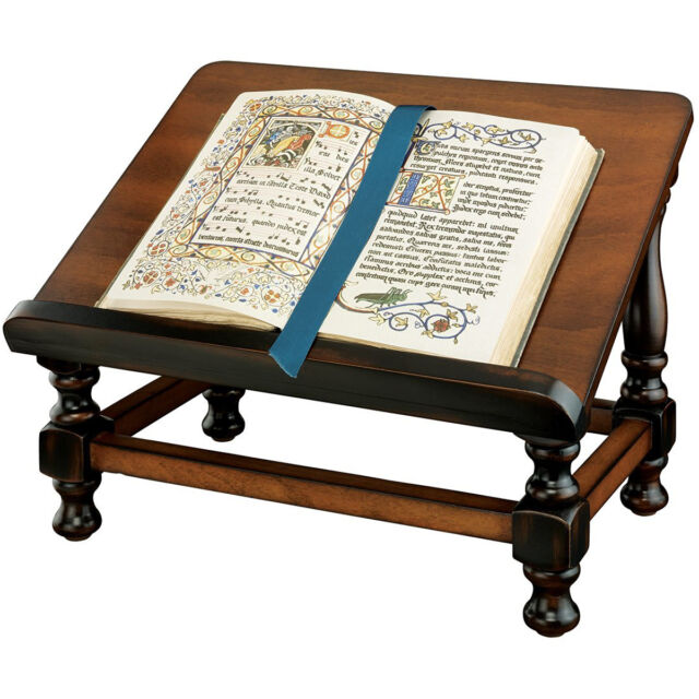 Wooden Book Easel Stand Hard Wood Antique Replica Bible Read Display Best Bible Display Stand