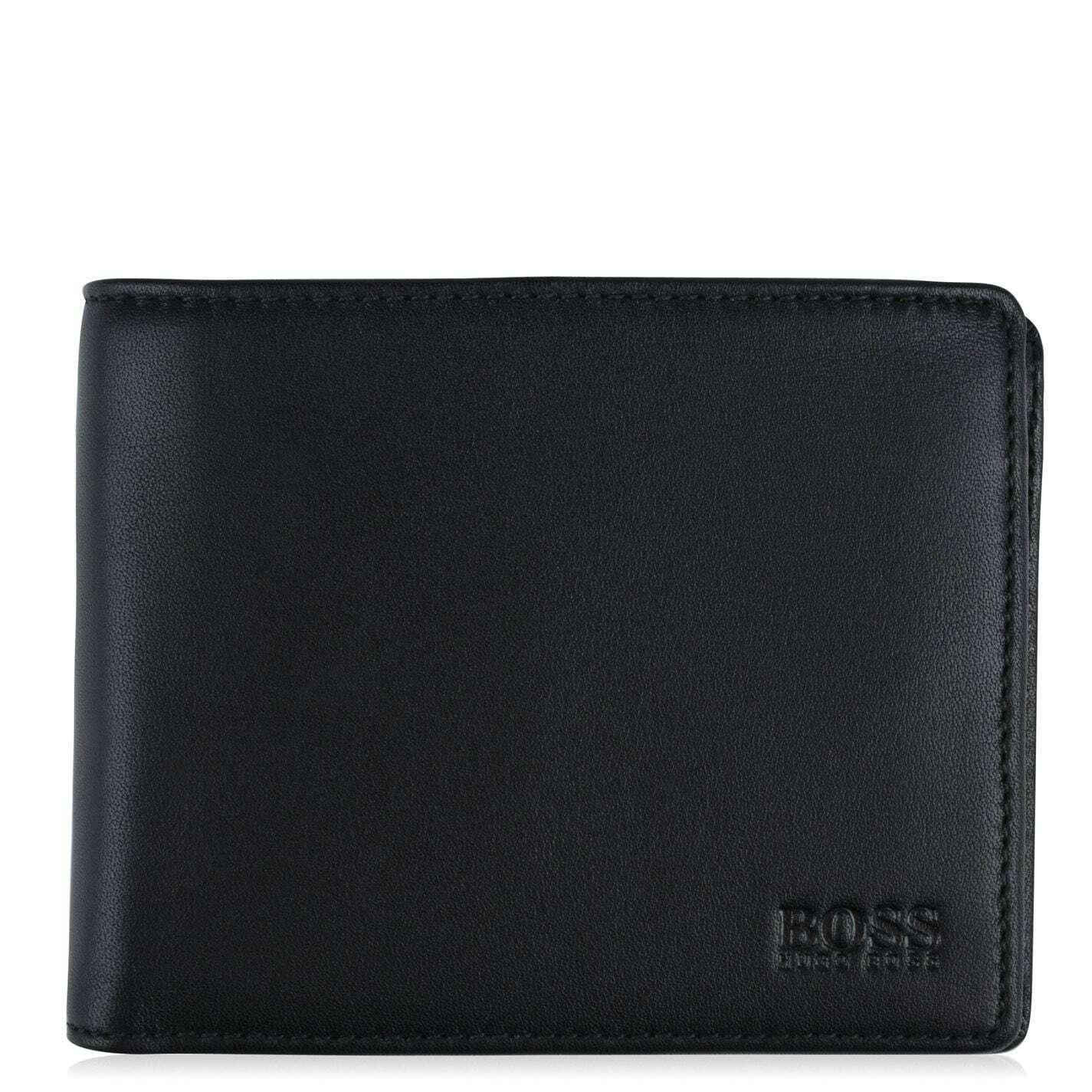 A-solo Hugo Boss Men Wallet 100% Leather Wallet Bifold,Coin & Card Holder Wallet