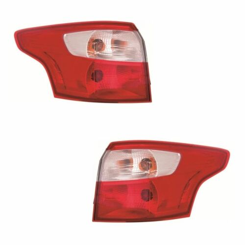 Ford Focus Mk3 Estate 2//2011-2014 Outer Wing Rear Lights Lamps 1 Pair O//S /& N//S