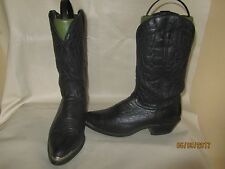 RODEO READY Laredo Black Leather Western Cowboy Boots size 10 EE