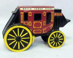 Details about VINTAGE WELLS FARGO BANK & TRUST STAGE COACH METAL BANK WITH  KEY SAN FRANCISCO