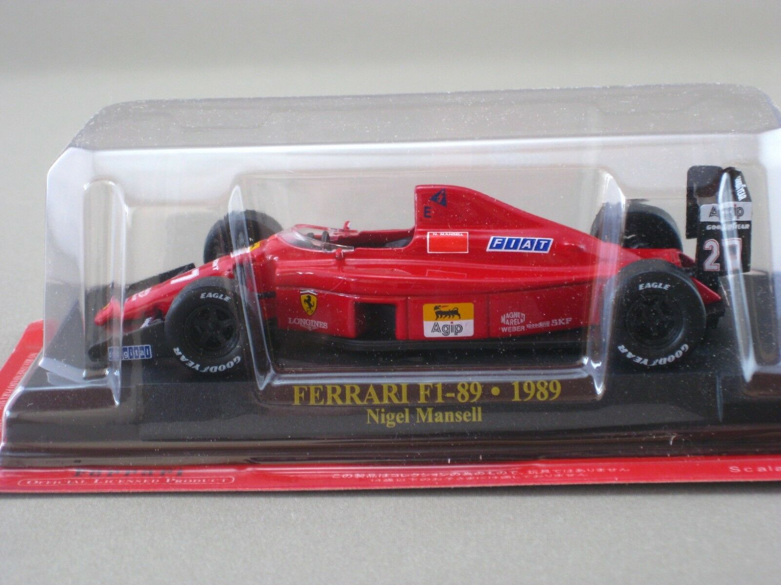 Ferrari F1 89 1989 Nigel Mansell hachette 1 43 Diecast modell Car Vol.19