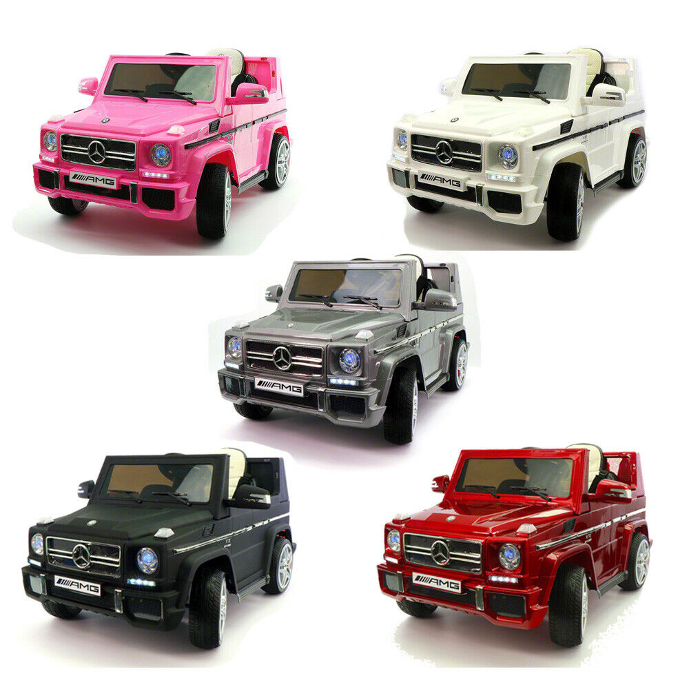 Mercedes G65 AMG 12V coche niños tractor con padres R C MP3 Faros Led