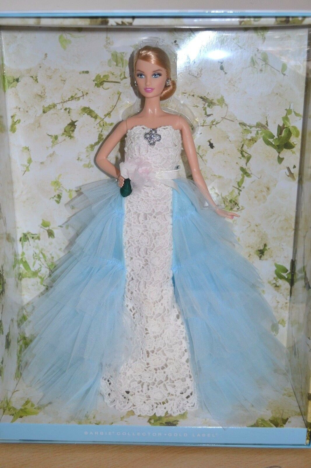 2016 oro Label Oscar de la Renta sposa Barbie-NUOVO