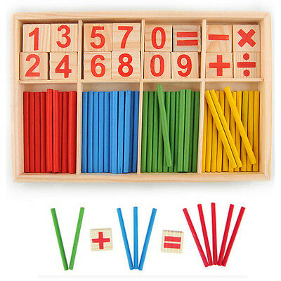 LOUS Children Wooden Numbers Mathematics Early Learning Counting Educational Toy