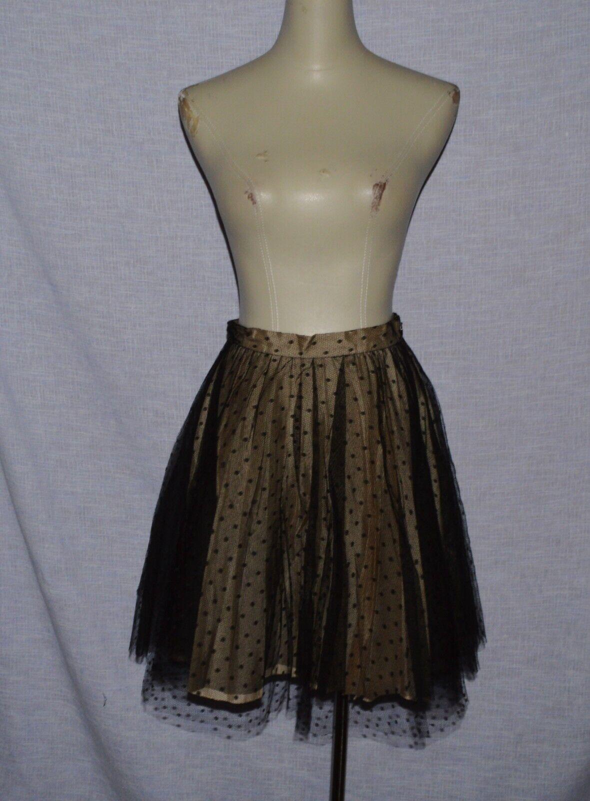 rojo VALENTINO Talla 40 Italia 4 S Pequeño Mini Falda  FLARE Tul Negro Diseñador  venta al por mayor barato