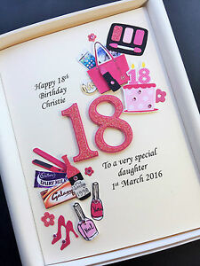 Image Is Loading PERSONALISED 18th BIRTHDAY CARD FOR DAUGHTER GRANDDAUGHTER NIECE