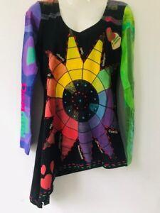 online shop top design great look Details zu Desigual Asymmetric Long Sleeve Top, UK Size S