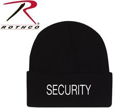 c396576fc0a Black Police   Security Hat Embroidered 100% Acrylic Watch Cap Rothco 5442  5443