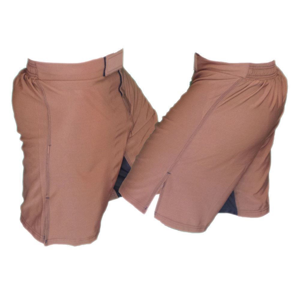 Brown MMA Fighting Shorts - No Decoration