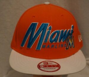 best loved 591e8 5f74c Image is loading MIAMI-Marlins-New-Era-MLB-Pull-it-Back-