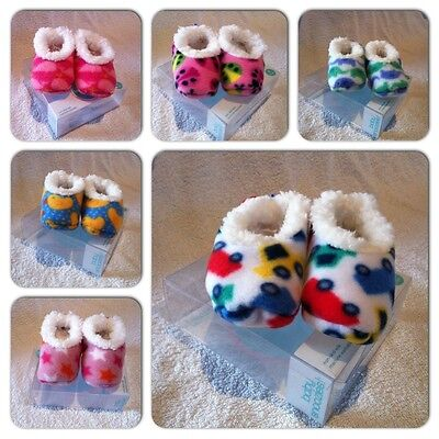 Baby SNOOZIES Soft Lined Slippers Booties Shoes Socks Gift BNIB Snoozie Girl Boy