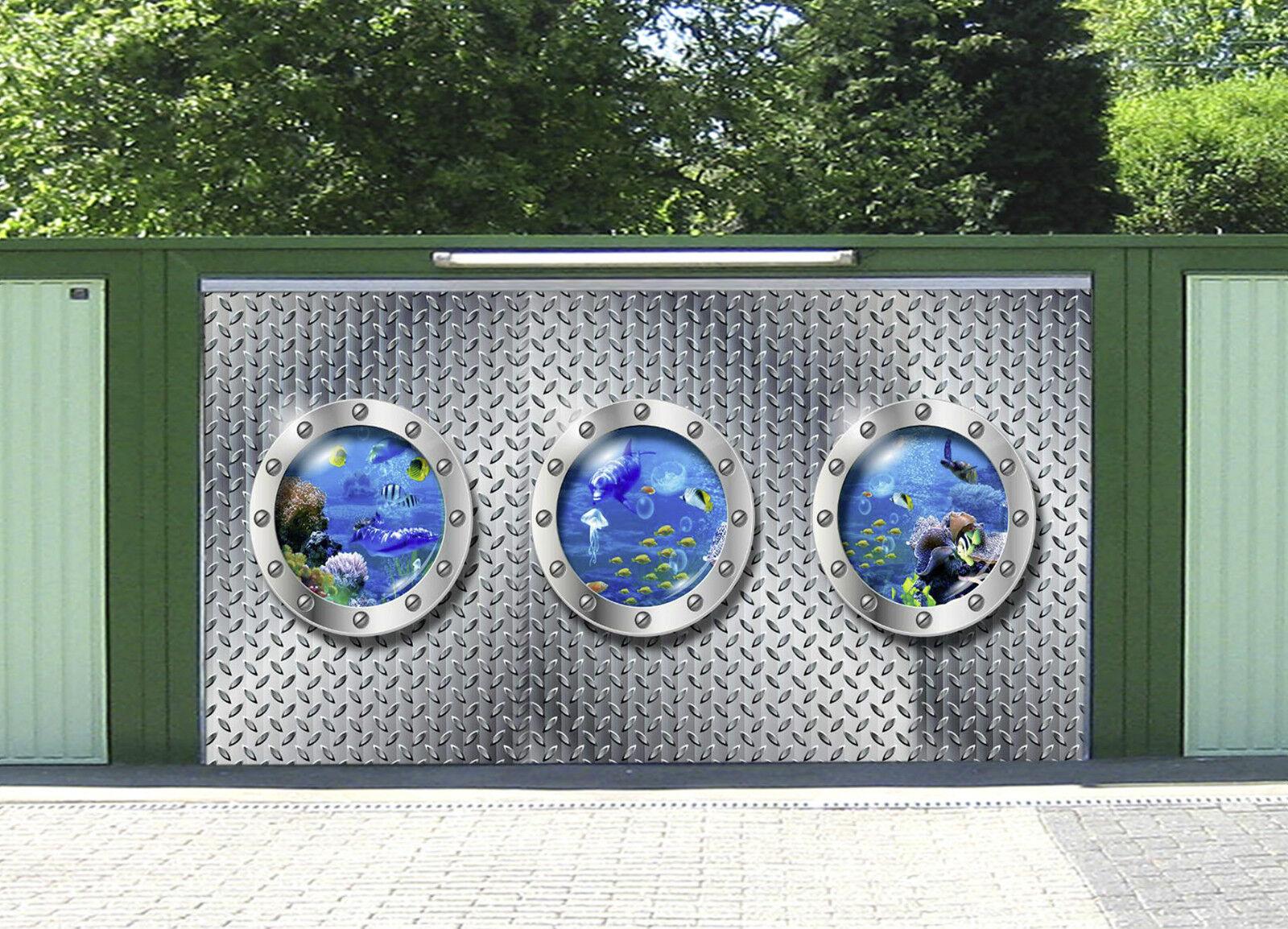 3D Mondo Sommerso Garage Porta Stampe Parete Decorazione Murale AJ WALLPAPER IT