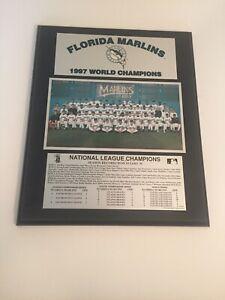 "Vintage Florida Marlins 1997 World Champions Team Wood Plaque 13""x15.5"" (RARE)"