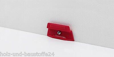 Parador Befestigungsclips Leistenclips rot für Sockelleiste SL 4 SL18 Clips