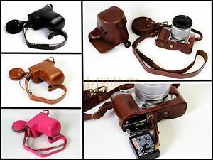 Camera Case PU Leather Cover Bag For FujiFilm Fuji X-A3 XA3 XA10 Bottom Opening
