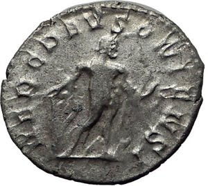POSTUMUS-262AD-Silver-Authentic-Ancient-Roman-Coin-Hercules-Heracles-i65355