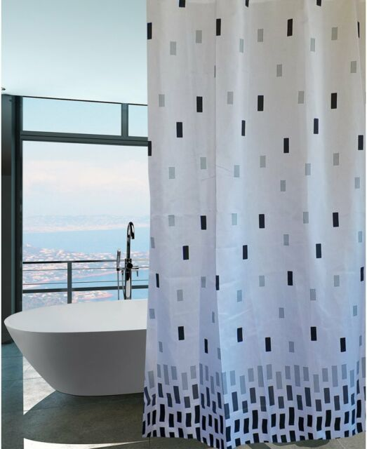 Ombre Black Brick Fabric Shower Curtain New Free Shipping