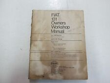 1978 Haynes FIAT 131 Owners Workshop Manual DAMAGED WATER STAINED FACTORY OEM