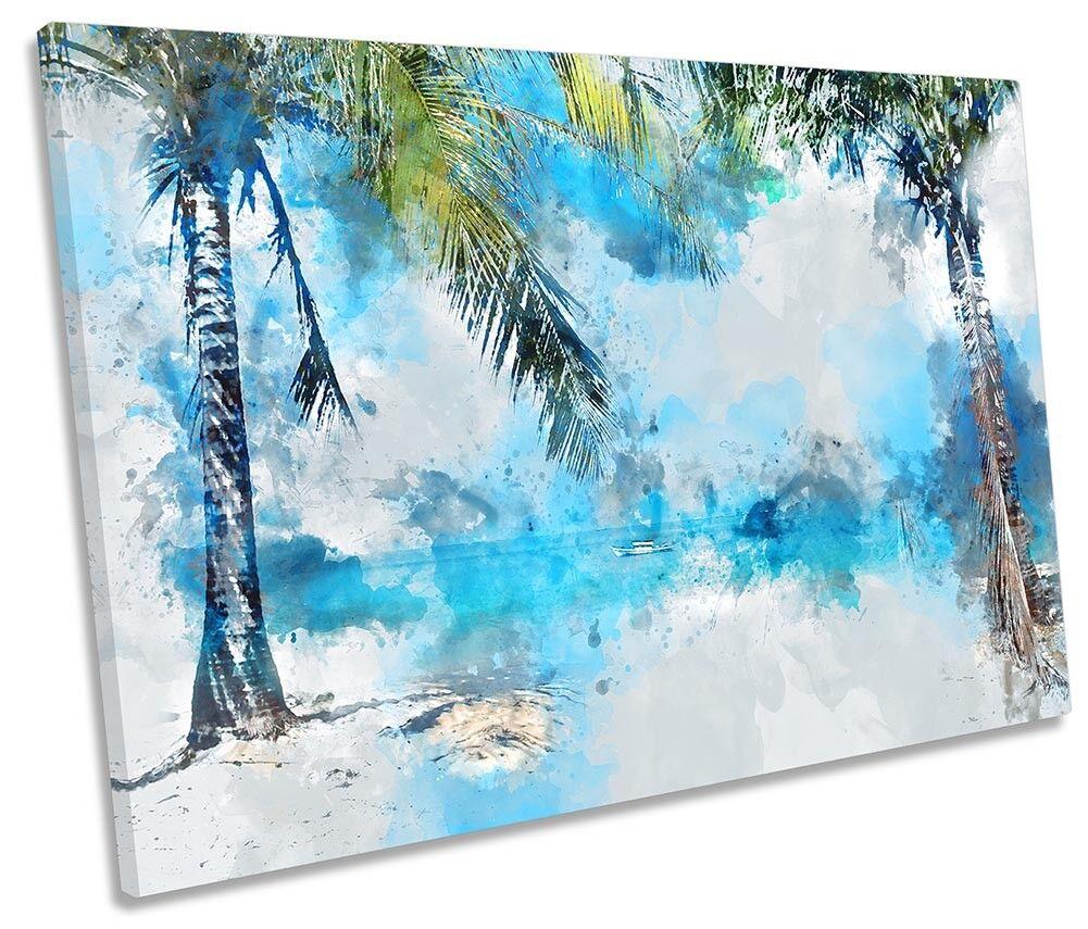 PALME beach FLORA Singolo a Muro opera d'arte art art art print 3d4760