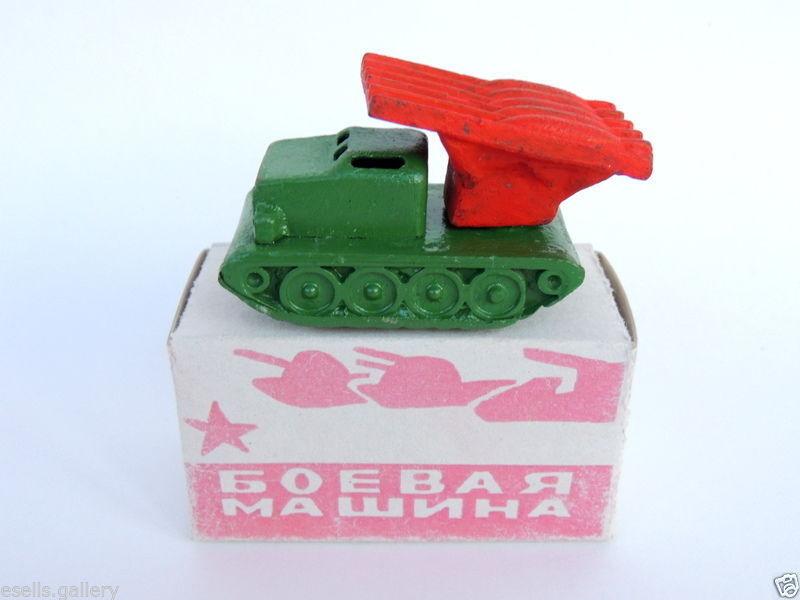 Coche Militar Ejército rosso soviético Segunda Guerra Mundial niños Cast Metal Vintage Estaño Juguete Regalo De Navidad