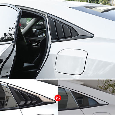 For Honda Civic 2016-2018 Left Right Side Window Louver Scoop Cover Glossy Black