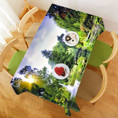 3D Forest 4 Tablecloth Table Cover Cloth Birthday Party AJ WALLPAPER UK Lemon