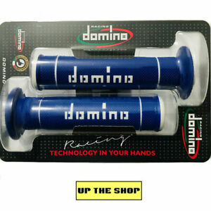 Domino-Dual-Compound-Trials-Off-road-MX-blue-amp-white-Grips-handlebar-grip