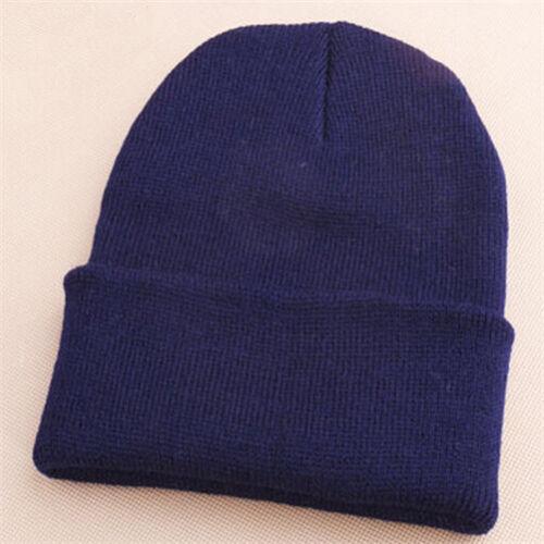 Trendy Men Women Beanie Knit Ski Cap Unisex Hip-Hop Blank Winter Warm Wool Hats