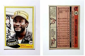 Matt-Alexander-Signed-1981-Topps-68-Card-Pittsburgh-Pirates-Auto-Autograph