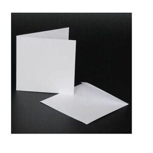 50 x 10.2cm x Bianco Biglietti Vuoti 250gsm & Buste 100gsm Creazione Craft 996