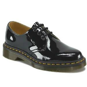 Dr. Martens 1461 Patent 3 Eye Shoes Genuine Leather Ladies Womens Shiny Gloss