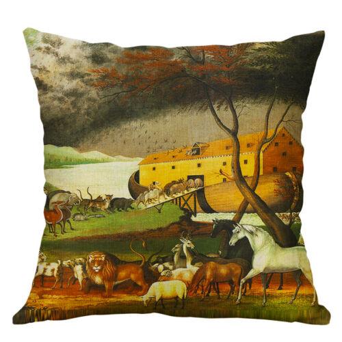 Throw Pillow Case Colourful Cushion Cover Animal Cat Horse Dog Print Home Decor