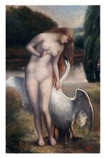 Leda und der Schwan - Franz Bleile, Öl auf Leinwand, datiert 1917 (# 5677)