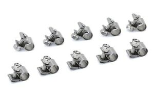 9mm - 11mm HPS #11 Stainless Steel Fuel Injection Hose Clamps 10pc Pack 23//64-7//16
