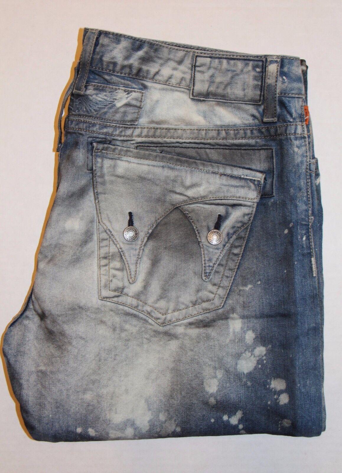 Nuovo da Uomo di ROBIN Jeans TG 42  D50192 Dble lungo Pattina -dritto Lunghi