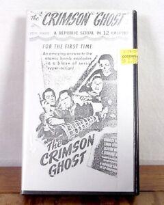 The Crimson Ghost A Republic Serial Episodes VHS Movie Film