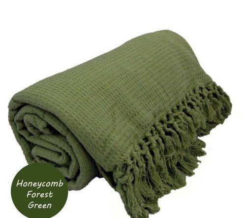 40 Cotton Sofa Bed Settee Throw Cover Chair Bedspread Blanket Fascinating Forest Green Throw Blanket