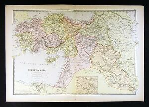 1882 blackie atlas map turkey in asia minor middle east iraq image is loading 1882 blackie atlas map turkey in asia minor gumiabroncs Choice Image